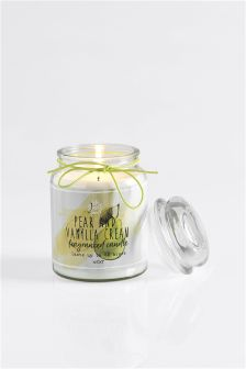 Pear & Vanilla Cream Fragranced Candle
