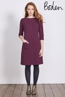 Boden Purple Marisole Jacquard Dress