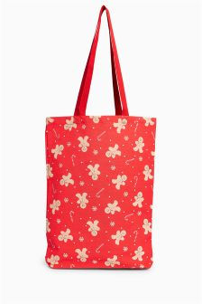 Gingerbread Man Print Shopper