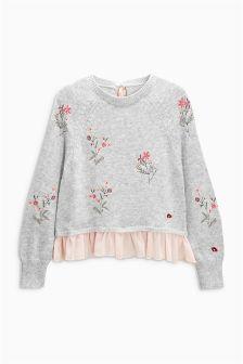 Woven Mix Sweater (3-16yrs)