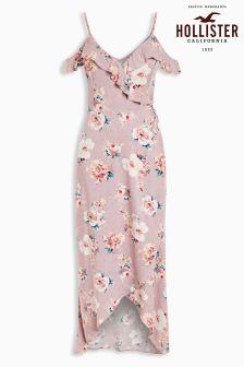 Hollister Pink Floral Maxi Dress