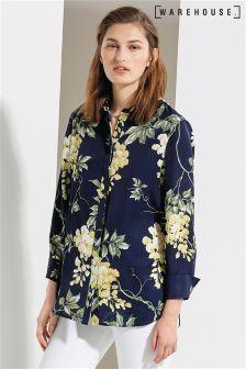 Warehouse Multi Wisteria Floral Shirt