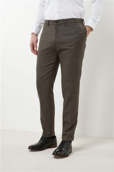 Flannel Slim Fit Plain Front Trousers