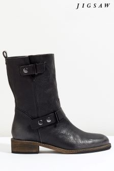 Jigsaw Black Carlsen Biker Boot