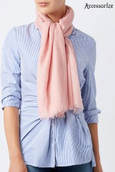 Accessorize Pink Livvy Plain Scarf
