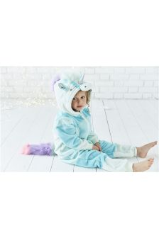 Unicorn Fleece All-In-One (3-16yrs)