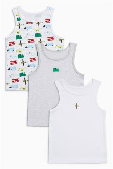 Vehicles Vests Three Pack (1.5-8yrs)