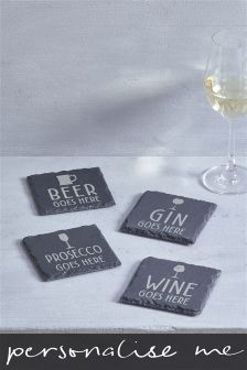 Real Slate Personalised Coaster By Loveabode
