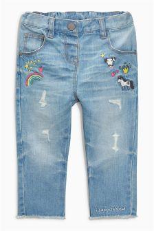Rainbow Embellished Jeans (3mths-6yrs)