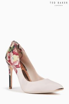Ted Baker Pink Painted Posie Pointed Court Shoe