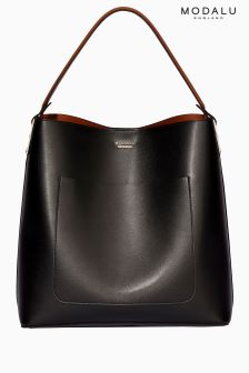 Modalu Black Mix Imogen Shoulder Bag