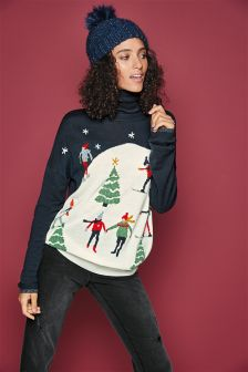 Roll Neck Christmas Sweater