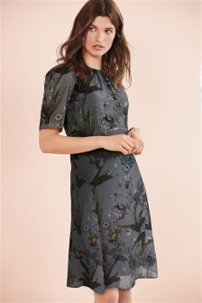 Print Short Sleeve Dress