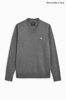 Abercrombie & Fitch V Neck Knitted Jumper