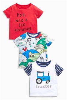 T-Shirts Three Pack (0mths-2yrs)
