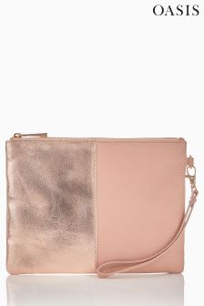 Oasis Nude/Rose Freya Patch Clutch