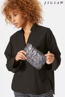 Jigsaw Blue Alba Medium Textured Pouch