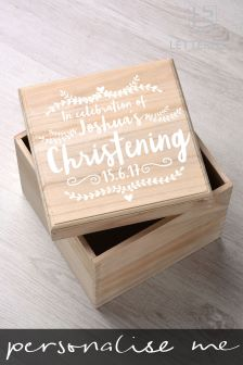 Personalised Babys Special Occassion Keepsake Box By Letterfest