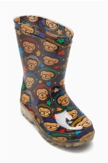 Monkey Wellies (Younger Boys)