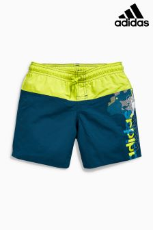 adidas Grey/Yellow Colourblock Swim Short
