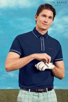 Ted Baker White Solid Polo