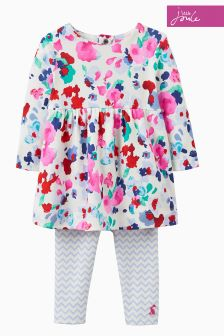 Joules Cream Bloom Dress Set