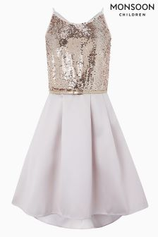 Monsoon Pink Beatrix Sequin Dress