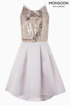Monsoon Pink Beatrix Sequin Dress