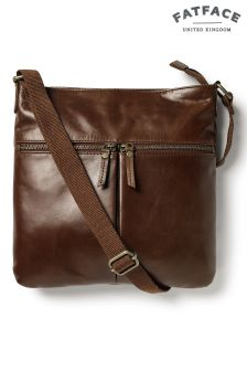 Fat Face Chestnut Alice Double Zip Cross Body Bag