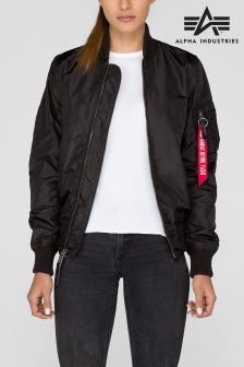 Alpha Black Ma1 TT Bomber Jacket