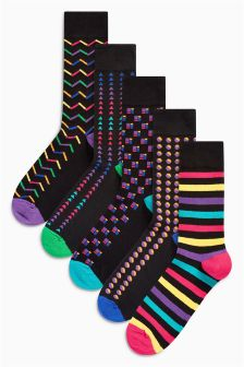 Geo Pattern Socks Five Pack