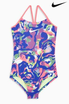 Nike Pink Floral Camo Swimsuit