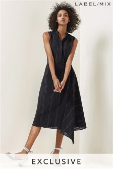 Mix/Osman Black/Gold Stripe Lightweight Shirt Dress