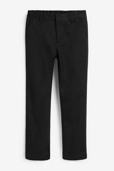 Flat Front Slim Fit Trousers (3-16yrs)