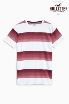 Hollister Red/White Stripe T-Shirt