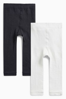 Star/Cloud Footless Tights Two Pack (0mths-2yrs)