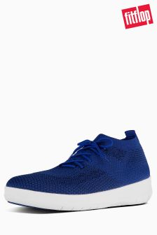 FitFlop™ Mazarine Blue/Black Uberknit Slip On High Top Sneaker