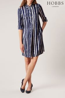 Hobbs Blue Marcella Dress