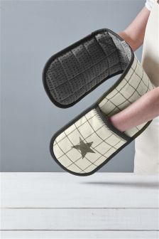 Star Double Oven Gloves