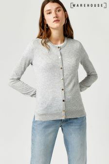 Warehouse Grey Crew Cardigan