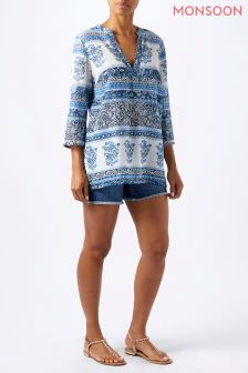 Monsoon Blue Mia Printed Kaftan