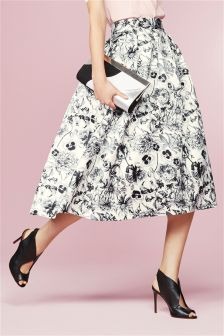 Printed Full Skirt