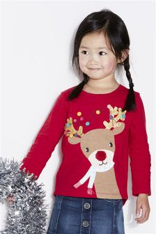 Christmas Deer T-Shirt (3mths-6yrs)