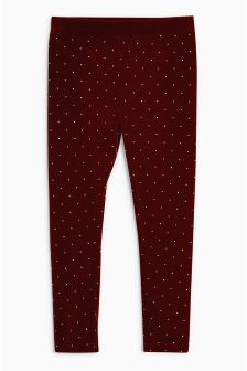 Velour Studded Leggings (3-16yrs)