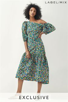 Mix/Isa Arfen Asymmetric Big Sleeve Dress