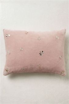 Sequin Bugs Velvet Cushion