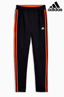 adidas Black/Red 3-Stripe Jogger
