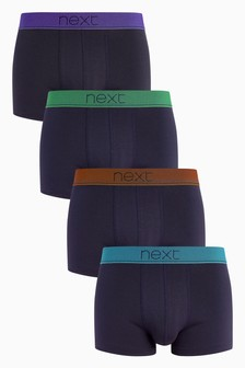 Geometric Waistband Hipsters Four Pack