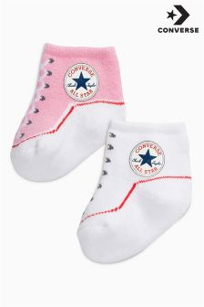 Converse Pink/White Booties Two Pack