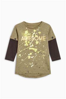 Awesome Splat Long Sleeve T-Shirt (3mths-6yrs)